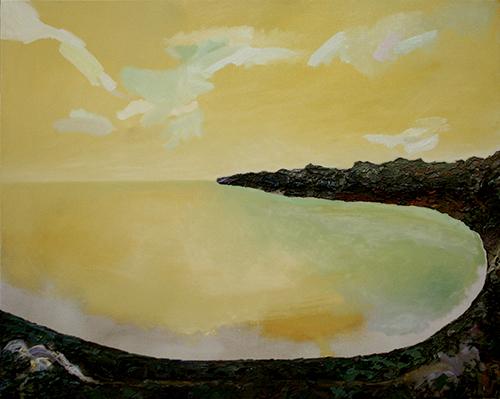 Arcipelago. Pigmenti emulsionati per la pittura a olio su tela. Cristiano Quagliozzi 2017