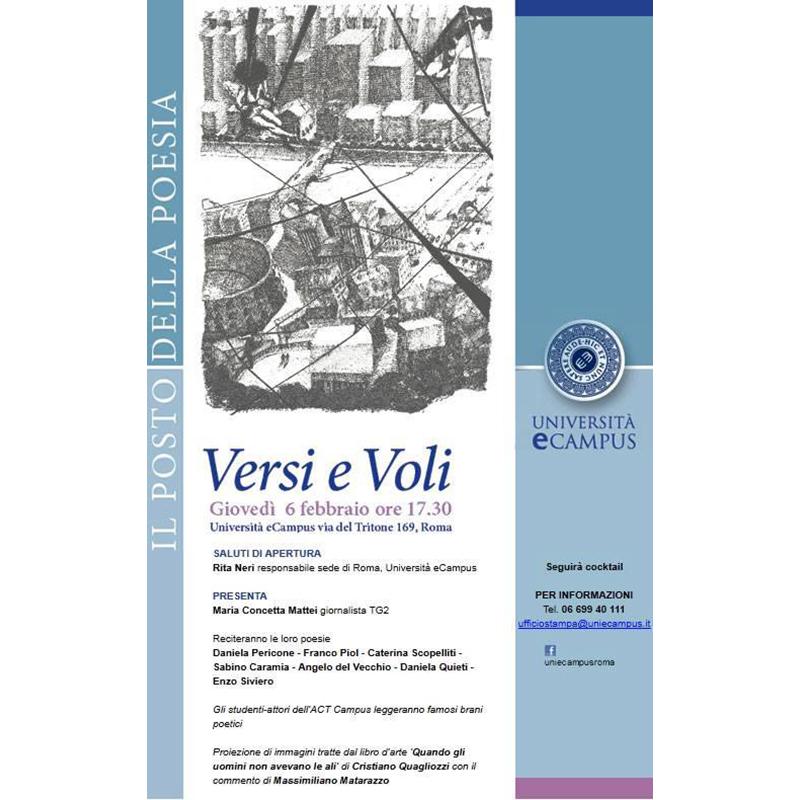 Università ecampus. Versi e Voli - Maria Concetta Mattei - Intervista sul libro Quando gli uomini non avevano le Ali