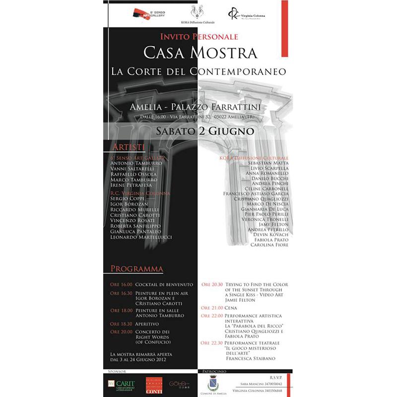 Amelia – Palazzo Farrattini – Casa Mostra – La Corte del Contemporaneo A cura di Kora Diffusione Culturale – Flaminia Scauso