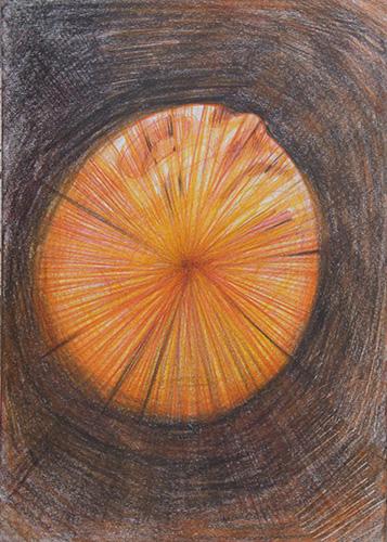 Concetto Astrale. Tecnica mista su carta, Parigi 2007