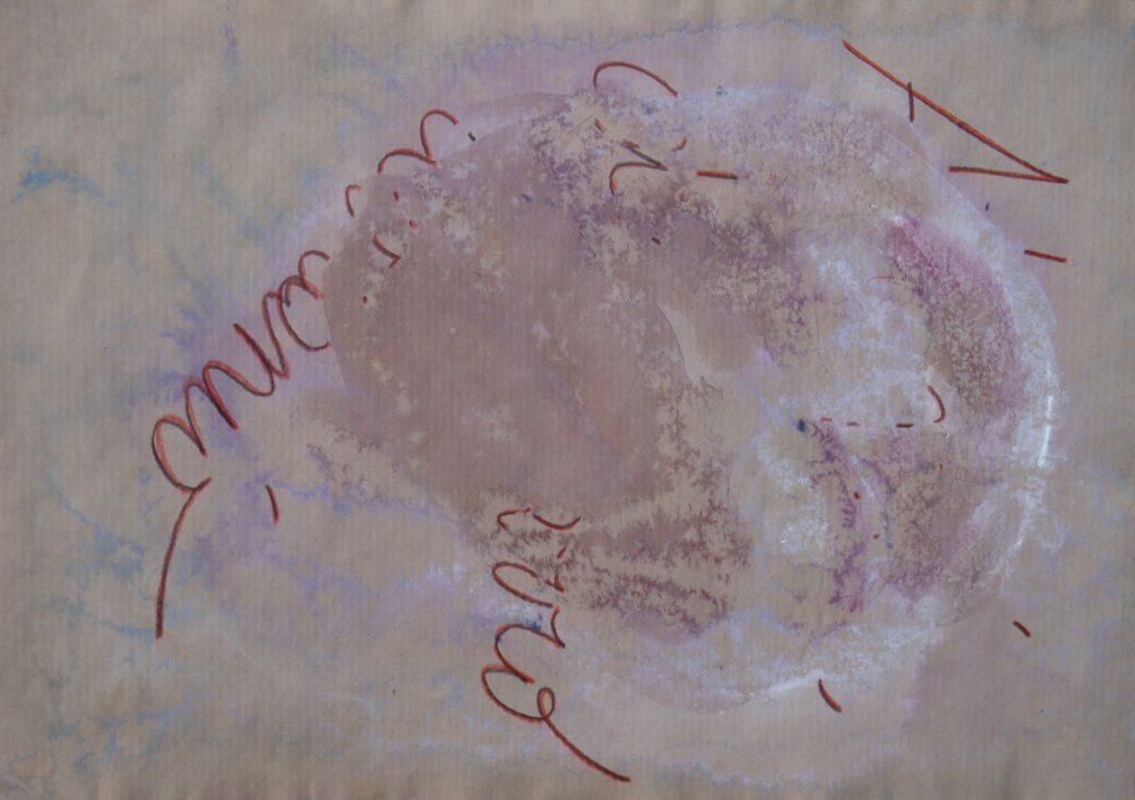 Concetto Astrale. Tecnica mista su carta. Roma 2008