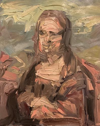 Dipinto a olio ispirato alla Gioconda di Leonardo da Vinci