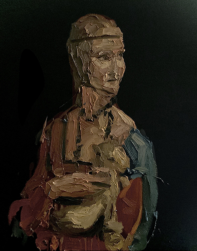 Dipinto a olio di Cristiano Quagliozzi Ispirato alla Dama con Ermellino di Leonardo da Vinci