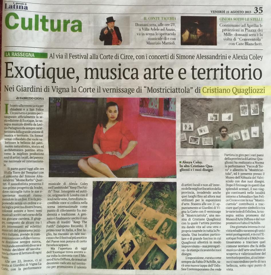 Il Giornale di Latina 21 Agosto 2015