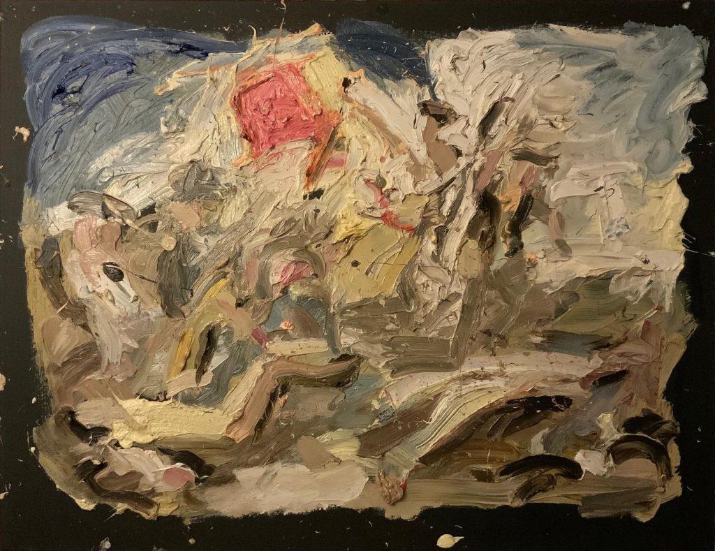 Dipinto a olio di Cristiano Quagliozzi Ispirato alla Libertà che guida il popolo di Eugéne Delacroix