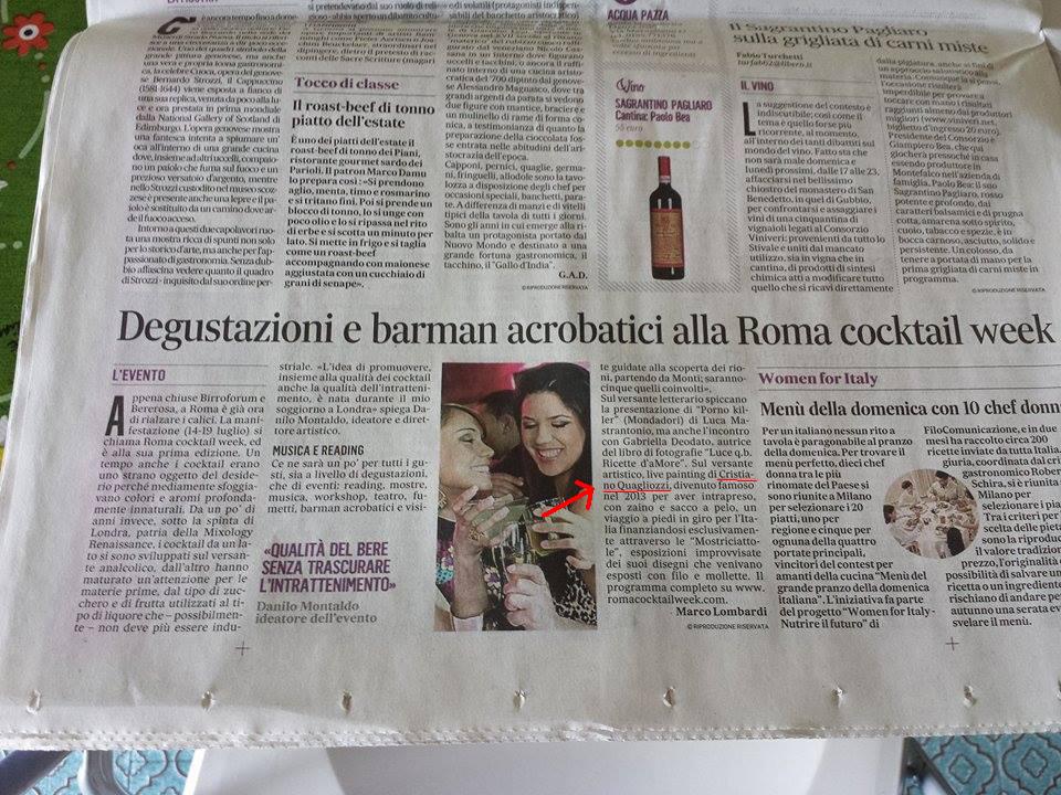 Messaggero Roma cocktail week 6 Luglio 2015