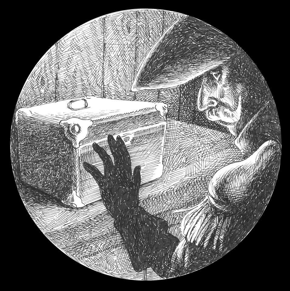 Disegno per lanterna Magica Di Cristiano Quagliozzi. Produzione Teatro di Carta
