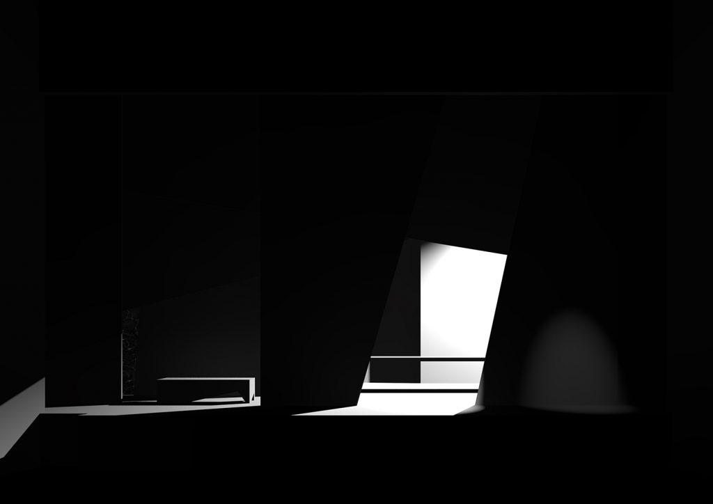 Scena 4: bottega di Alfred Ill, rendering